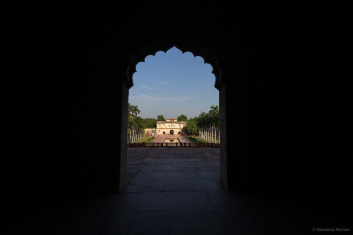 View of the main entrance from the tomb premises