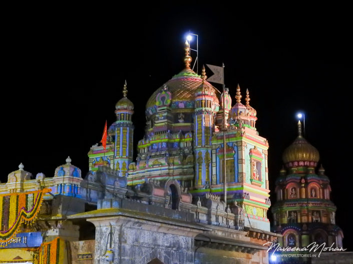 Night view of the Khandoba Temple