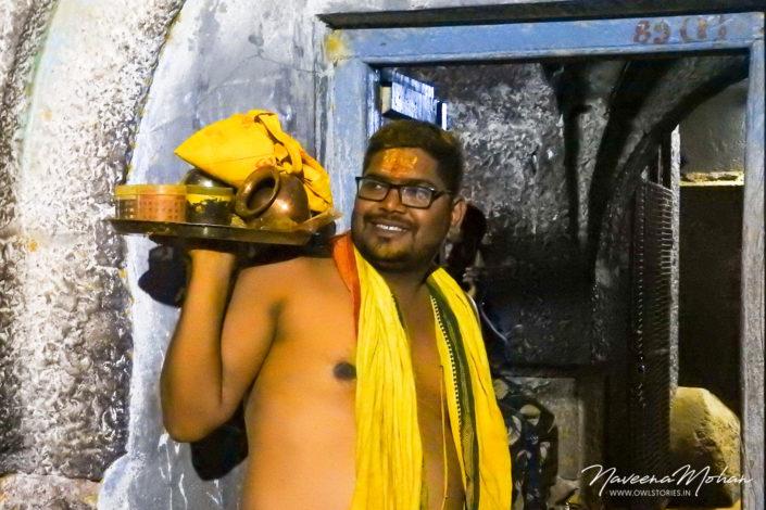 Priest at Khandoba Temple