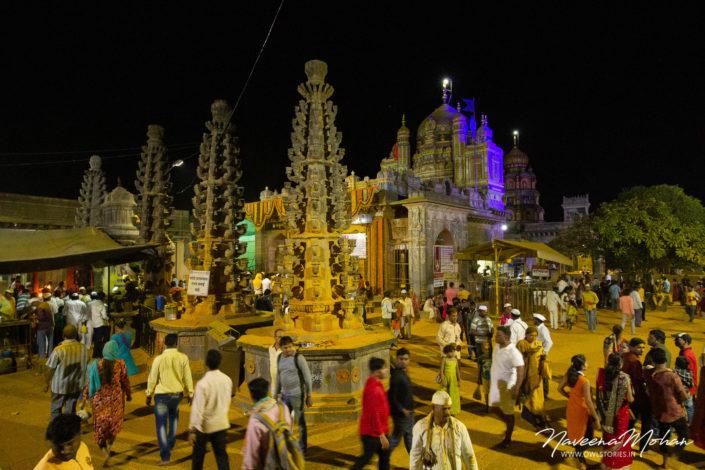 Night view of Khandoba temple, jejuri