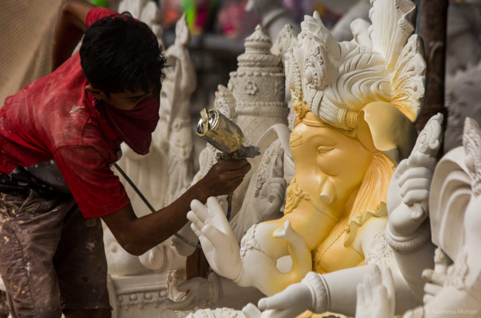 Ganpati, in the making!
